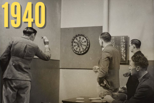 Darts in the Students' Union 1940