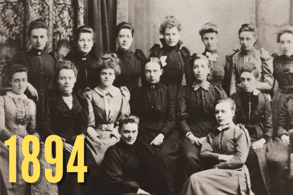 Women students at Owens College 1894