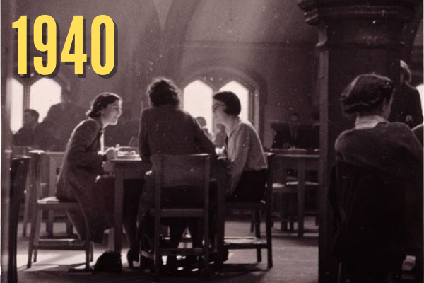 Women students in the Old Welsh chapel