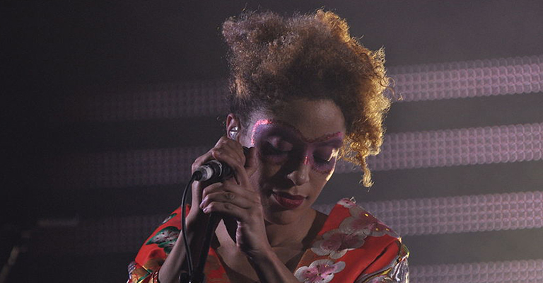 Massive Attack on stage