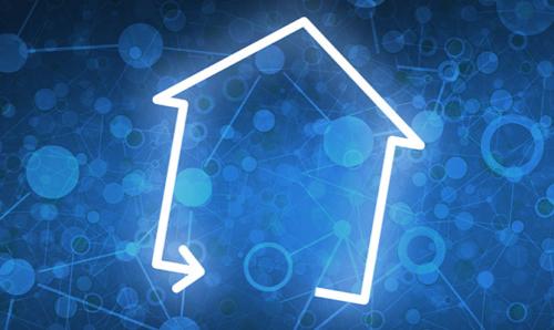 Futuristic house image and The Buzz logo