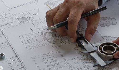 Engineer's hands at work