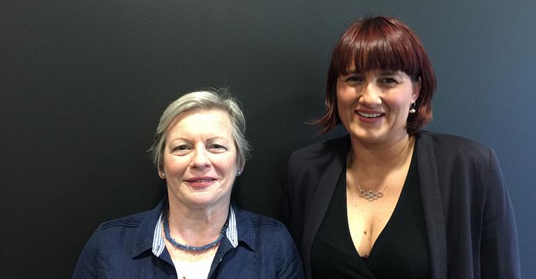 Joy Milne and Prof Perdita Barran