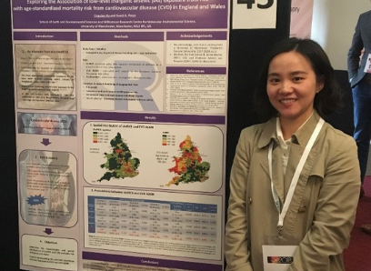 Lingqian Xu and her poster