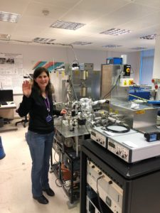 Sarah Crowther in a lab