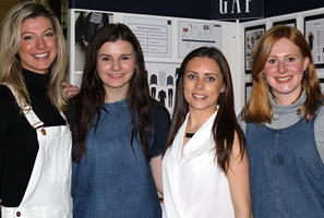Charlotte on the right hand side of her team from the DFB Degree Show