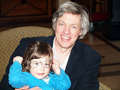 Stuart with his daughter, Alice. You'll her more about her later...