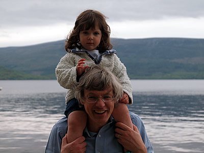 Stuart and Alice at Loch Lomond, combining a couple of our professor's favourite pastimes.