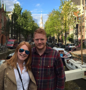 By the famous Amsterdam canal!