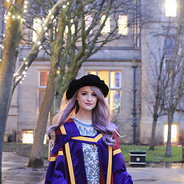 Victoria looking amazing on graduation day here at the School of Materials, University of Manchester