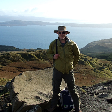 Bill walking in Scotland!