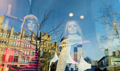 Mannequins in a Manchester shop window