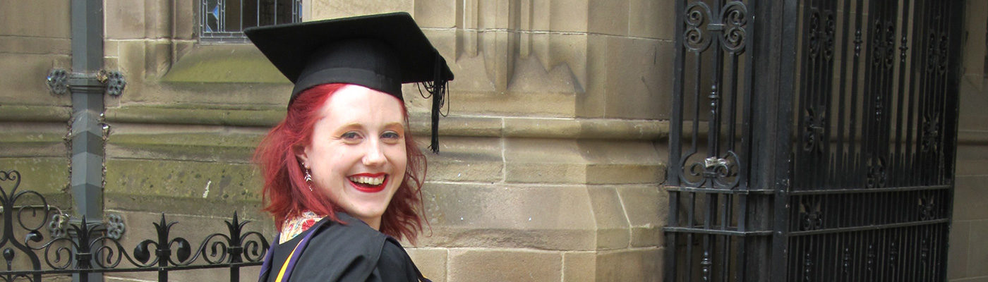 Rachel Cox in graduation gown